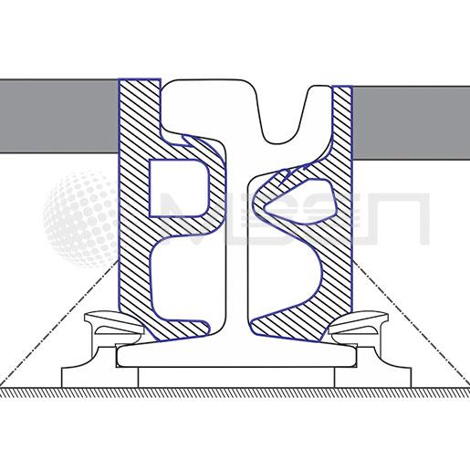 Прирельсовый профиль для трамвайных плит